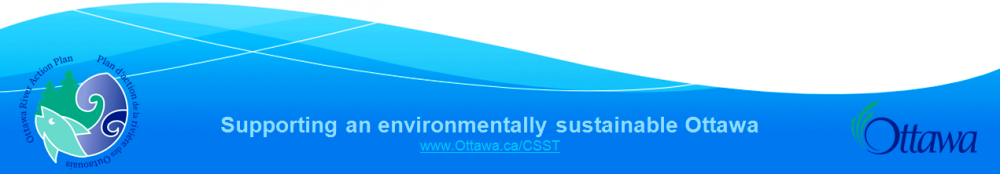 Footer Banner. Supporting an environmentally sustainable Ottawa. The partnership of Ottawa River Action Plan and City of Ottawa.
